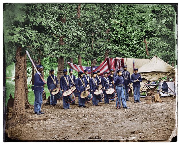 Union Civil War drummer boys